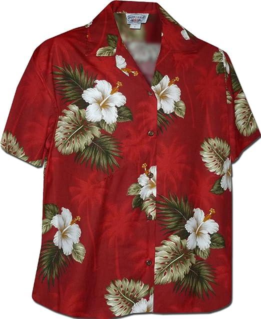 f2e9b404 Amazon.com: Hibiscus Islands Women's Aloha Shirts Red: Clothing