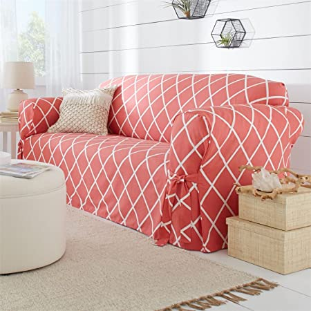 Amazon.com: Brylanehome Mix & Match Lattice Design Cotton Sofa ...