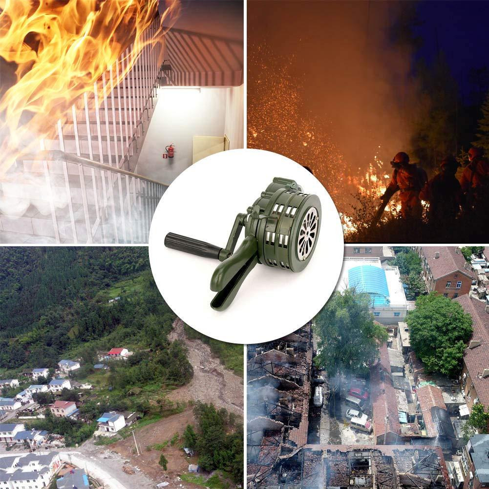 Suppyfly Cuerno De Sirena De Manivela 110db Alarma De Metal Operada Manualmente Seguridad De Emergencia De Ataque A/éreo