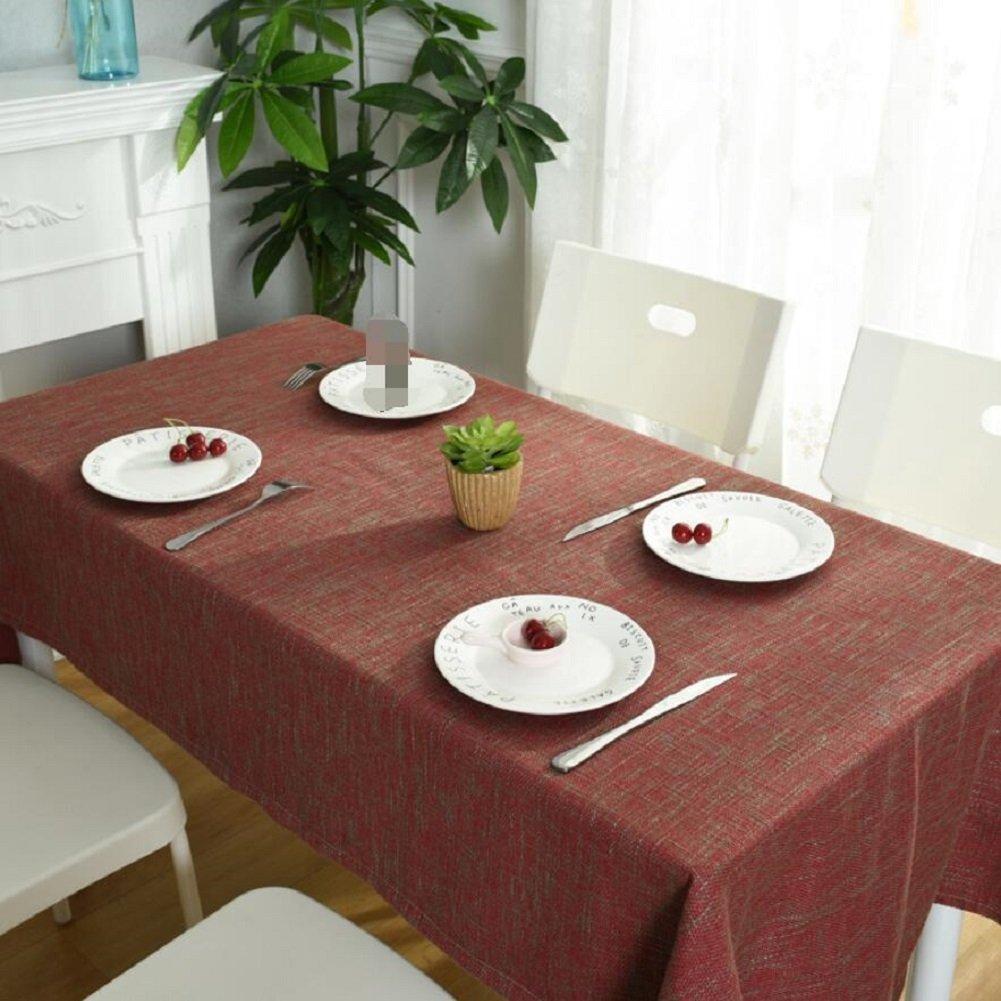 D 130200cm ZXY Nappe de table simple et moderne en coton et lin, facile à nettoyer Manteau pratique en tissu anti-poussière résistant à l'usure, tissu de couverture rectangulaire multifonctionnel,B,130200cm