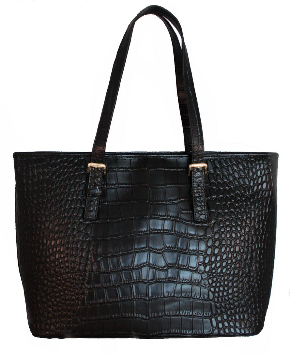 FIORI EE0090 Black Genuine Crocodile Pattern Cow Leather BABY BAG.