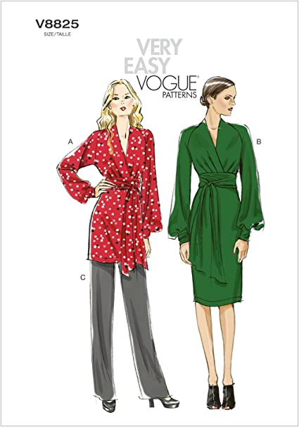 Vogue Sewing Pattern V8825 Women/'s Tunic Dress And Trousers