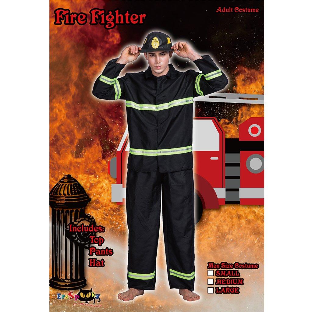 Amazon.com: eraspooky adulto Bombero Bombero – Disfraz para ...