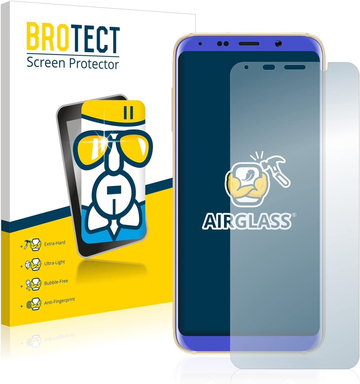 BROTECT Protector Pantalla Cristal Compatible con Bluboo S8 ...