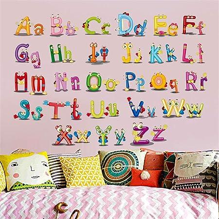 Animal alfabetos//Números Pegatinas De Pared Desmontable Para Niñas Niños Habitación