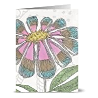 Note Card Cafe All Occasion Greeting Cards with Yellow Envelopes | 24 Pack | Watercolor Delia Design | Blank Inside, Glossy Finish | for Greeting Cards, Occasions, Birthdays