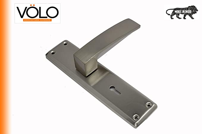 Volo Security Mortise Lock Handle Set Complete with Lock, Silver Satin Finish, for Door Hardware