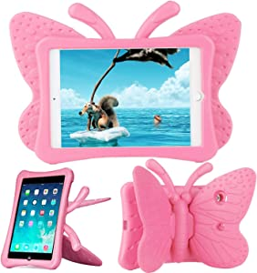 Xboun Butterfly Series EVA Shock Proof Protective Case for Apple iPad Mini 1/ Mini 2/ Mini 3/ Mini 4/ Mini 5 - Pink