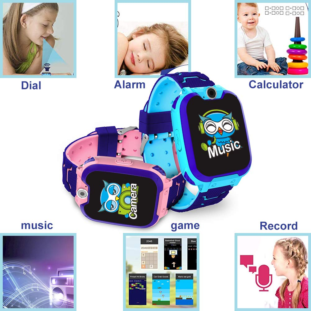 HuaWise Kids Smartwatch [SD Card Included], 1.54 inch Colorful Touch Screen Smartwatch for Children with Quick Dial, Camera and Music Player,Calculator and Alarm for Boys and Girls(NOT Support AT&T) by HuaWise (Image #3)