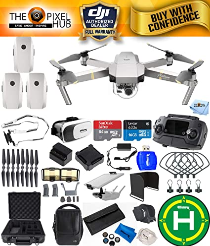e03322a0aaa Image Unavailable. Image not available for. Color: DJI Mavic Pro Platinum  Fly More Combo Bundle with Aluminum Case ...
