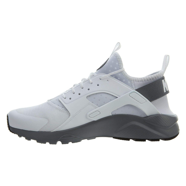 16dda674d26c2 Amazon.com   Nike Mens Huarache Run Ultra Running Shoes White/Cool Grey  819685-103 Size 9.5   Running