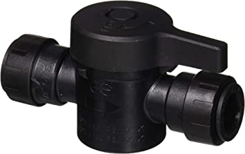 john guest pseisv20ep prolock push fit shut off valve push to connect 1 2 cts black