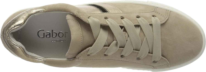 Gabor Comfort Basic Sneakers voor dames Beige (Desert/Champ/Zw. 33).