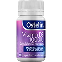 Ostelin Vitamin D3 1000IU, Maintains Bone and Muscle Strength, Helps Boost Calcium Absorption, 60 capsules