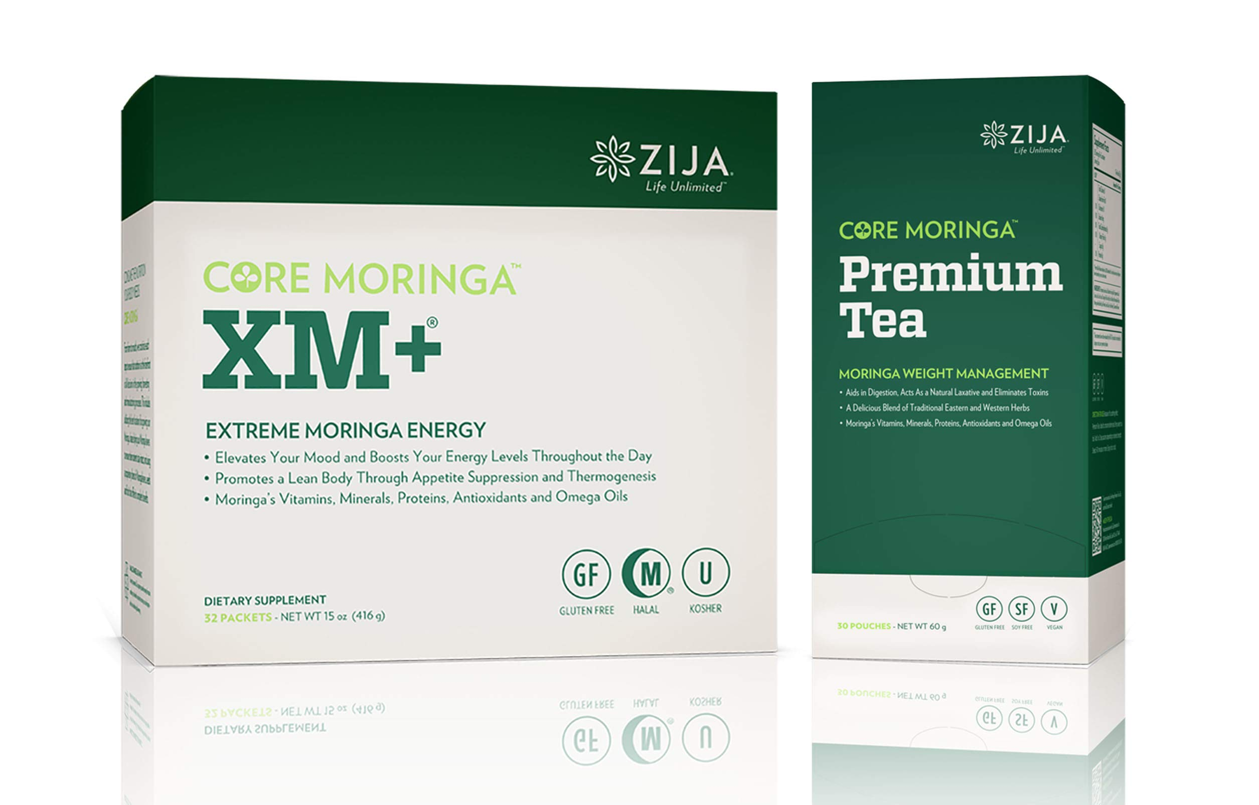 Zija XM+ Pure Moringa & Premium Tea Instant by Common Wellness Moringa (Image #1)