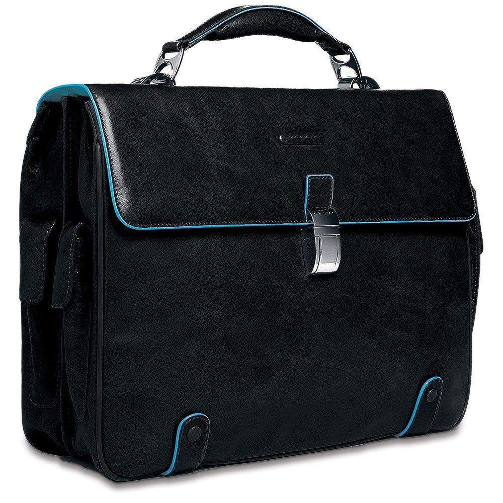 e6ca2e05ec Piquadro blu blu blu Square Cartella, 44x32x12 cm, Nero (Nero) |  all'ingrosso | Materiali selezionati ...
