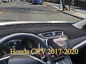 Yiz Dash Cover Mat Custom Fit for Honda CRV 2017 2018 2019 2020 no HUD,Dashboard Cover Pad (17-19 Black) Z07