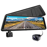 Deals on Auto Vox A1 Uber Stream Media Mirror Dash Cam 1080P Rotating