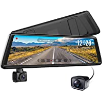 Auto-Vox A1 Uber Stream Media Mirror Dash Cam with Parking Mode,Loop Recording,G-Sensor,WDR