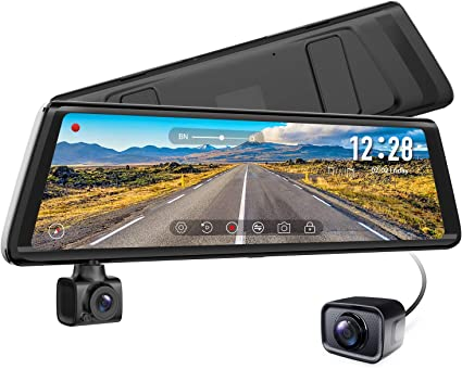 Backup Camera with Night Vision 9.35/″ Laminated and Anti-Glare Display BOSCAM Mirror Dash Cam Sony IMX Sensor Dash Camera for Cars 1080P Dual Dash Cam with Streaming Media R2