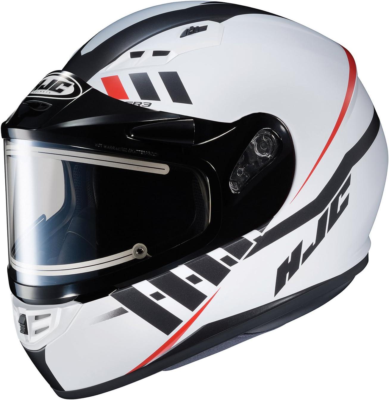 Small Black//White Full-Face Street Motorcycle Helmet HJC CS-R3 Space