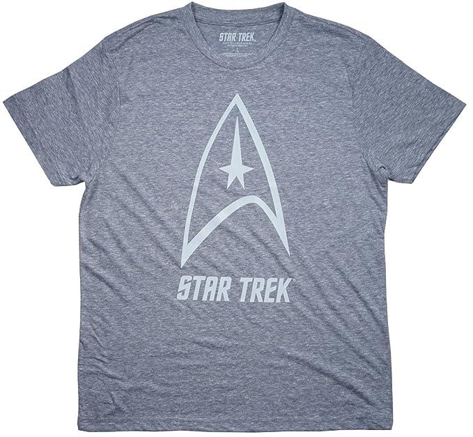 6a8e63cfb Amazon.com: Star Trek Starfleet Men's T-Shirt in Light Blue. L ...