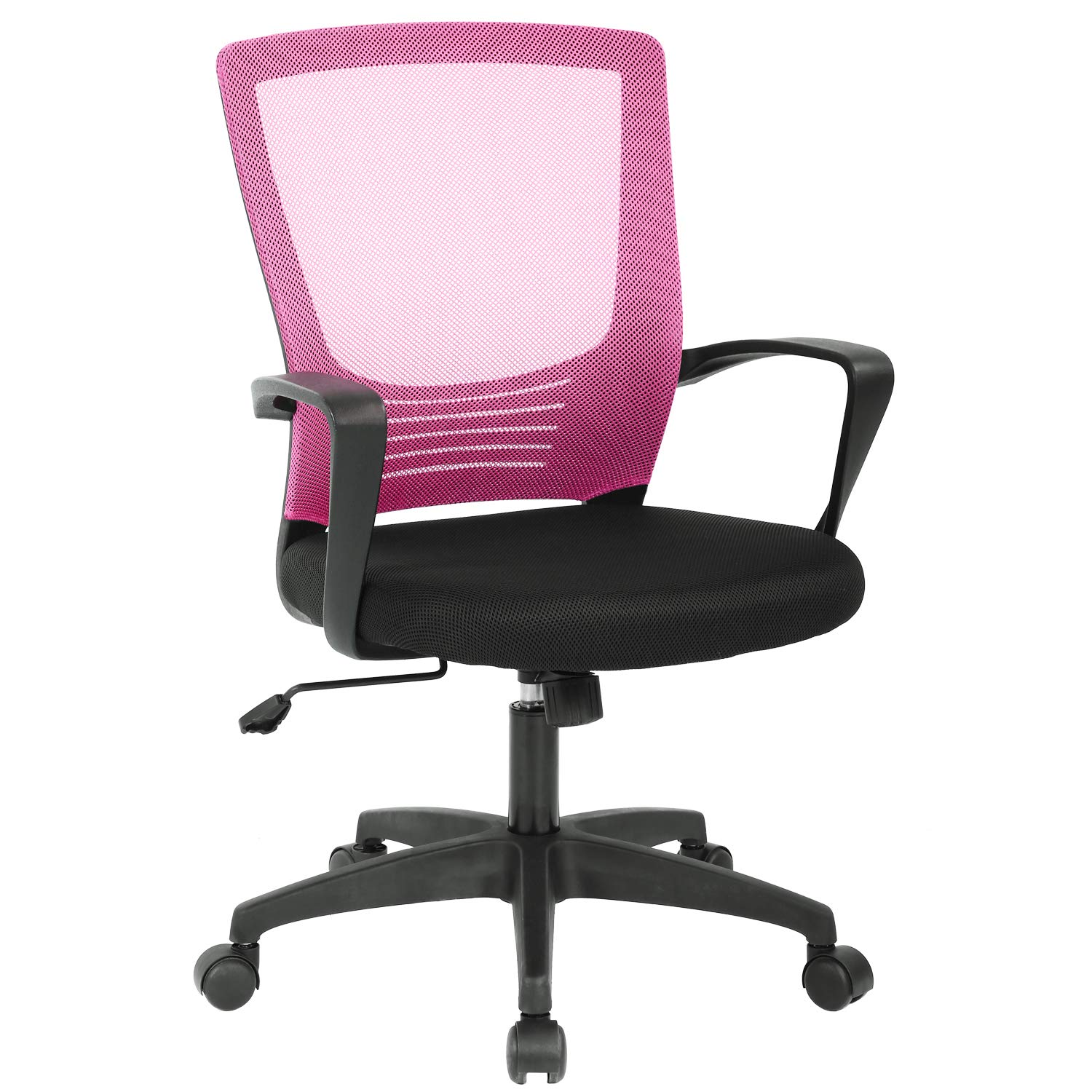 Office Chair Ergonomic Desk Chair Mesh Computer Chair Rolling Swivel Modern Executive Chair Adjustable Stool Back Support for Women&Men, Pink