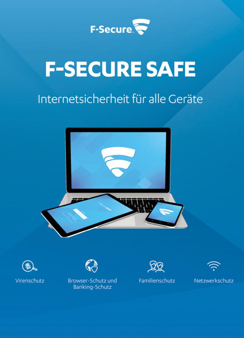 F-Secure SAFE Internet Security - 2 Jahre / 5 Geräte [Online Code]