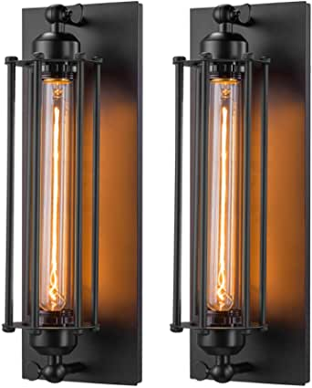 Licperron Industrial Wall Sconce E26 E27 Edison Vintage Wall Sconce Antique Wall Lamp Fixtures Bedside Bar Restaurant Hotel Lighting Decor 2 Pack Home Improvement Amazon Com