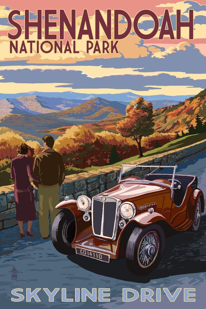Shenandoah国立公園、バージニア州 – スカイラインドライブ 24 x 36 Signed Art Print LANT-42275-710 B07B2CS831 24 x 36 Signed Art Print24 x 36 Signed Art Print