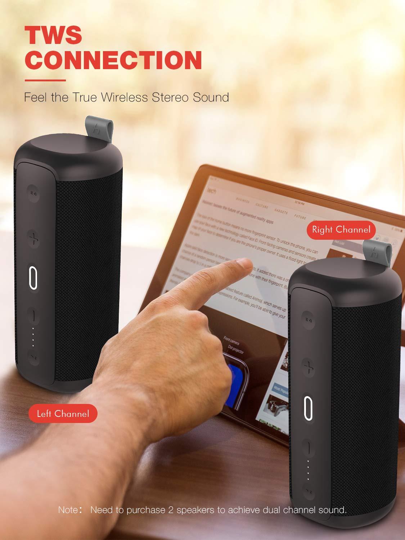 HAVIT Altavoz Bluetooth Impermeable con Sonido estéreo de 30 vatios, DSP Bass Up, TWS/NFC, 14 Horas de reproducción, micrófono Incorporado para ...