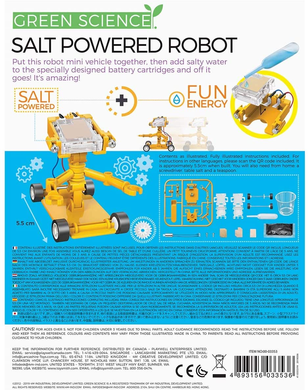 Amazon.com: 4M Green Science Salt Water Powered Robot Kit - Green Energy  Robotics STEM Toys Educational Gift for Kids & Teens, Girls & Boys: Toys &  Games