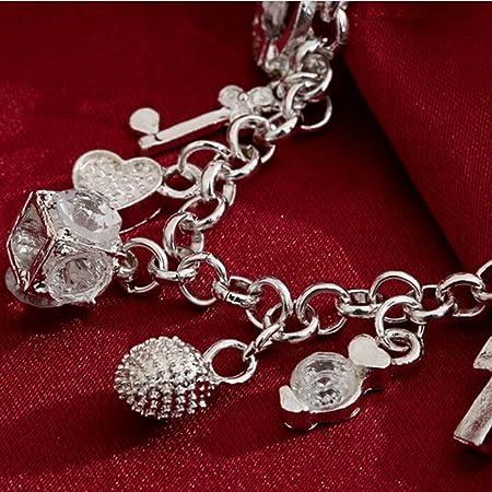 L Shop Women Luxury Bracelet Hanging 13 Charm Pendant Bangle
