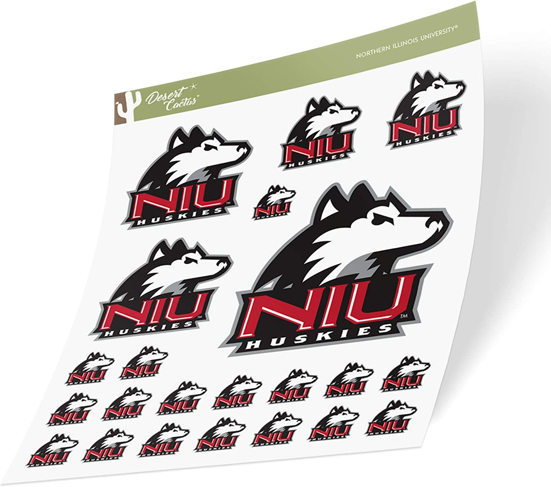 Northern Illinois University NIU Huskies NCAA Sticker Vinyl Decal Laptop Water Bottle Car Scrapbook (Sheet Type 3-1)