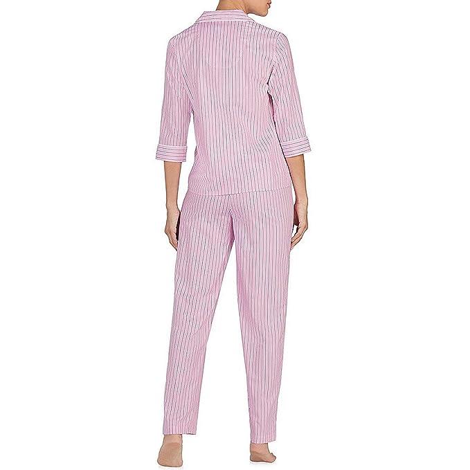 Lauren Ralph Lauren - Pijama - para Mujer Rosa Rosa S: Amazon.es: Ropa y accesorios