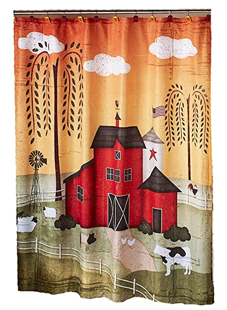 Image Unavailable Not Available For Color Barnyard SHOWER CURTAIN