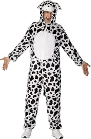 Smiffy's Men's Dalmatian Costume Includes Jumpsuit with Hood