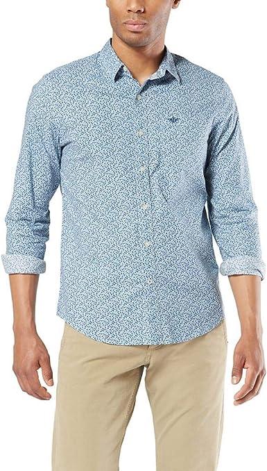 dockers Long Sleeve No-Tuck Button Down Shirt Camisa Abotonada para Hombre: Amazon.es: Ropa y accesorios