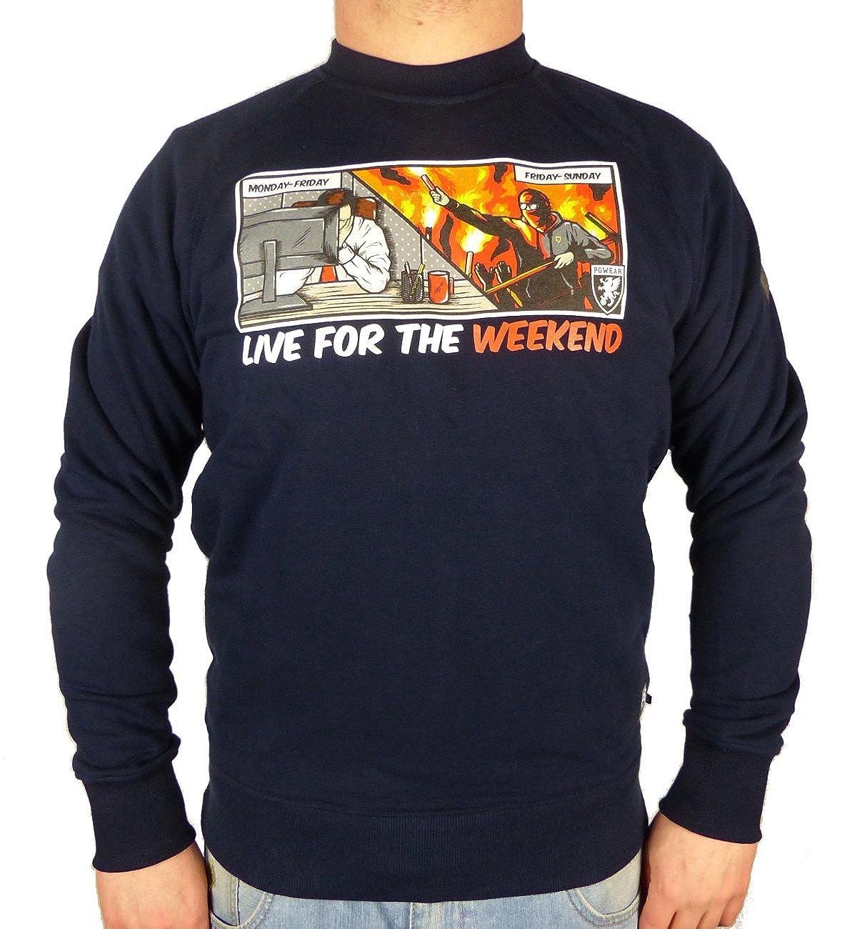 PG Wear Sweatshirt Live for The Weekend blau