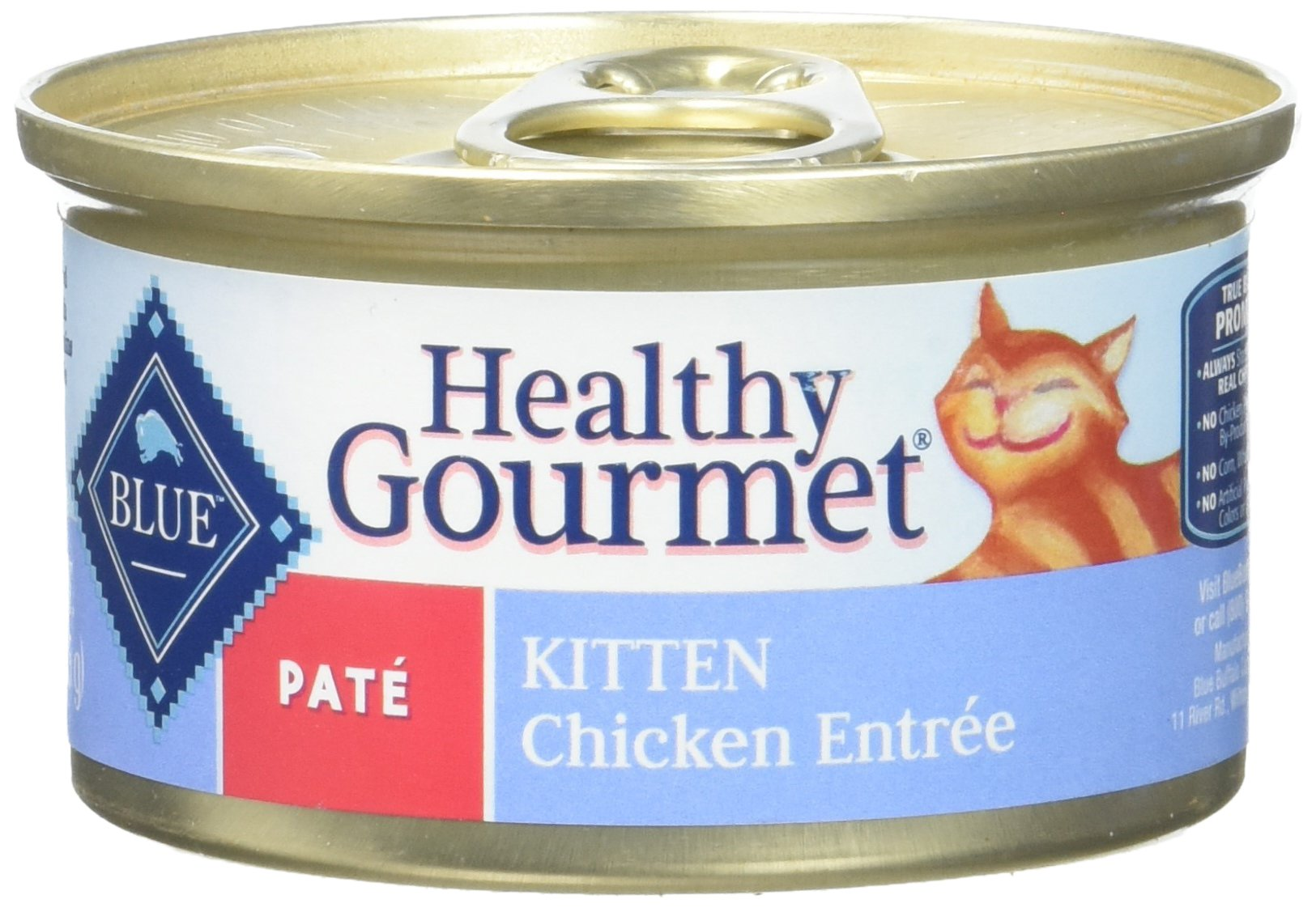 Blue Buffalo Healthy Gourmet Chicken Canned Kitten Food, 3 Oz. (Case Of 24 Cans) by Blue Buffalo