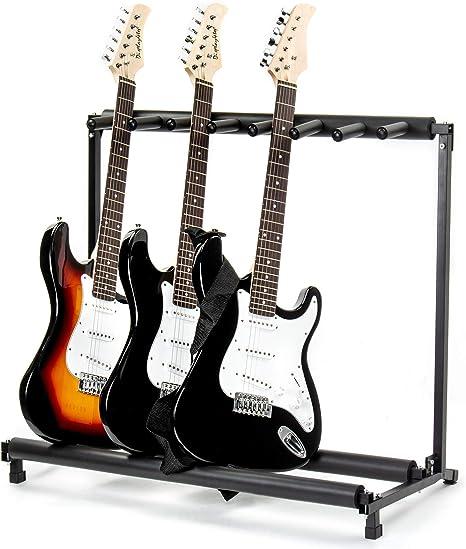 FOBUY - Soporte para guitarra acústica eléctrica (7 vías): Amazon ...