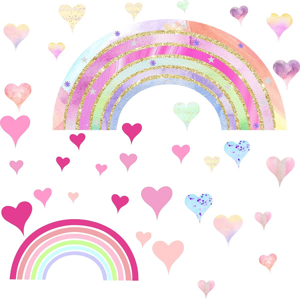 Wavy Rainbow Ribbon Wall Border Removable Fabric Wall Decal Girls Wall Decor Pastel Rainbow Wall Border