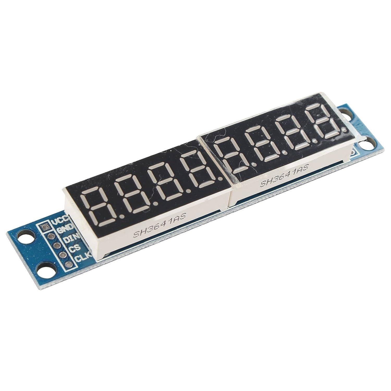 HALJIA MAX7219/Module de Commande d/'affichage Num/érique LED 8/Chiffres 7/Segments 5V pour Arduino MCU