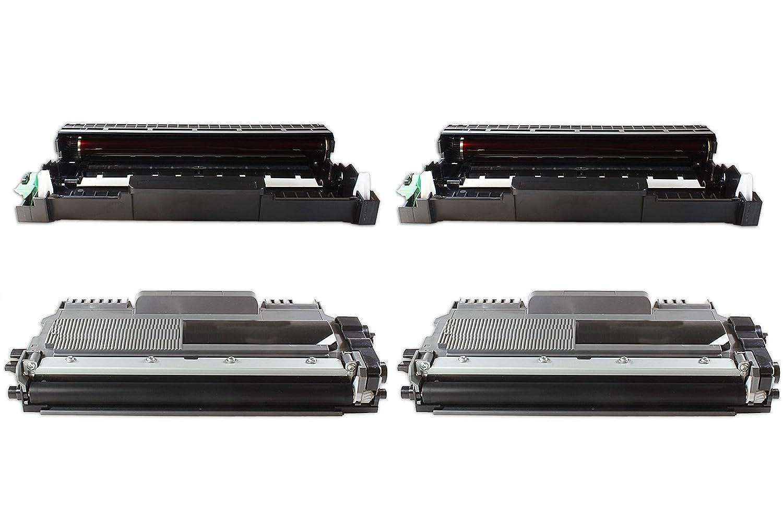 TTRecycling - Compatible Compatible - - recambio de Brother HL-2132/HL-2132R (2 x DR-2200 tambor + 2 x TN-2010 XL tóner) 4Set 93a47d