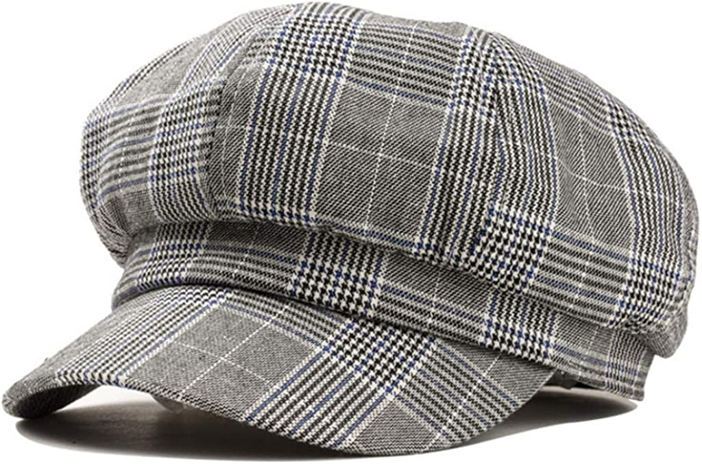 Women Plaid Newsboy Caps...