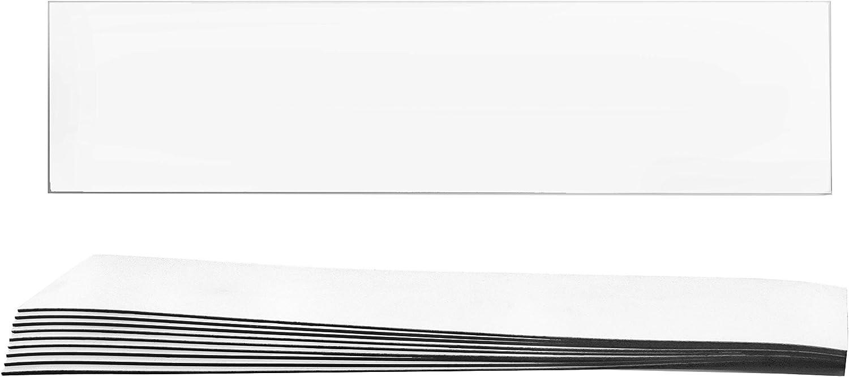 "10 Pack Lockdown Magnetic Strips, White - 8"" X 2"" X 0.03"" - Flexible & Durable - Effective & Easy Solution für Emergency Lockdowns - Hbarsci"