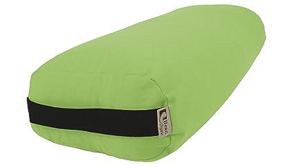 Bean Products Yoga Bolster - 100% Organic Rectangle - Avocado