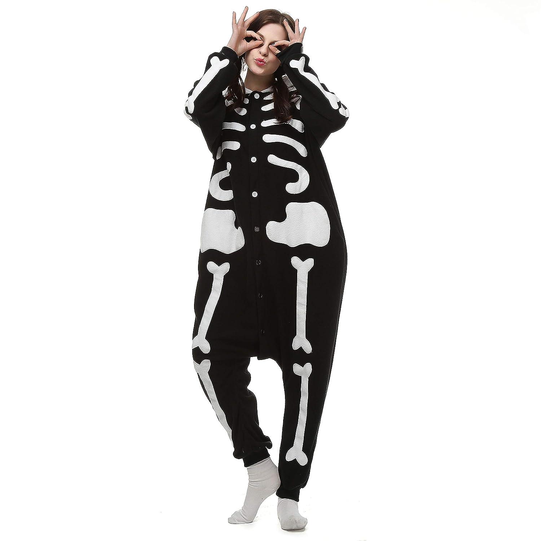 Pijamas Enteros Cosplay Adulto Ropa de Dormir Hombre Camisones Disfraces Carnaval Ropa Pijamas de Una Pieza Mujer Esqueleto Venaster