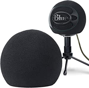 YOUSHARES Blue Snowball Pop Filter - Customizing Microphone Windscreen Foam Cover for Improve Blue Snowball iCE Mic Audio Quality (Black)