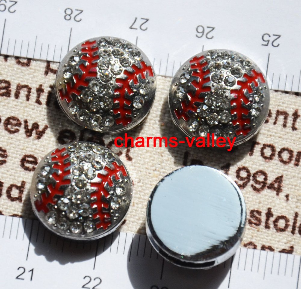 50PCS 8MM Full Rhinestone Silver Baseball Slide Charms Letters DIY Accessory Fit 8mm Wristband Pet Dog Collars Strips Keychain